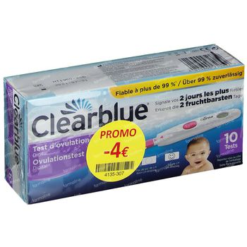 Clearblue Digitale Test d'Ovulation Prix Réduit 10 pièces