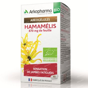 Arkogélules Hamamelis Bio 45 capsules