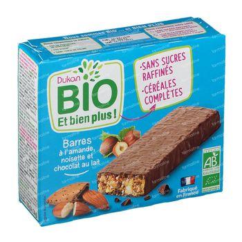 Dukan Barres à l'Amande, Noisette et Chocolat au Lait Bio 120 g