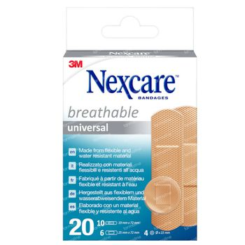 Nexcare Breathable Universal 20 pleisters