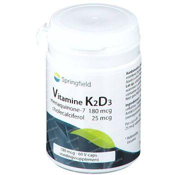 Springfield Vitamine K2D3 Menaquinon-7 + Cholecalciferol 60 capsules