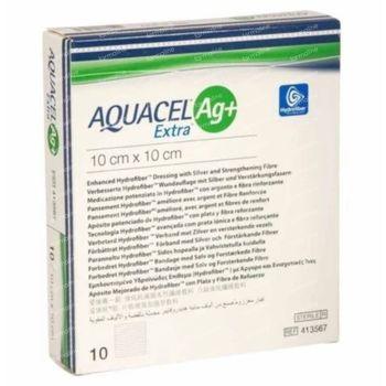 Aquacel AG+ Extra Verband 10x10cm 10 stuks