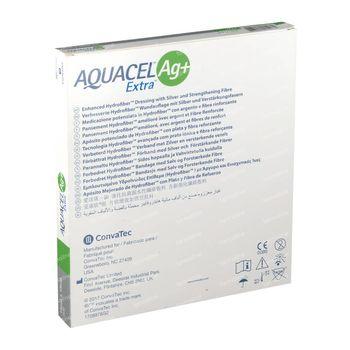 Aquacel AG+ Extra Hydrofiber Verband 15x15cm 5 stuks