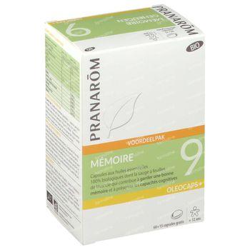 Pranarôm Oleocaps+ 9 Geheugen Bio + 15 Capsules GRATIS 60+15 capsules