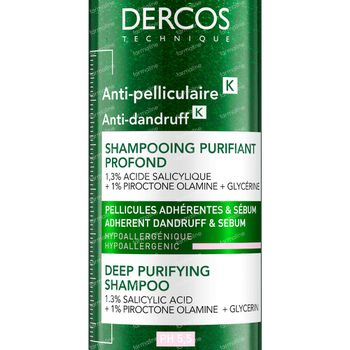 Vichy Dercos Diep Zuiverende Shampoo Anti-Roos 250 ml