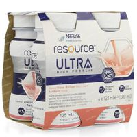 Nestlé Resource Ultra Aardbei 4x125 ml