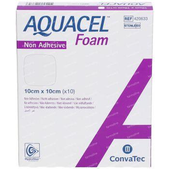 Aquacel AG Schuimverband Niet-Klevend 10x10cm 10 stuks