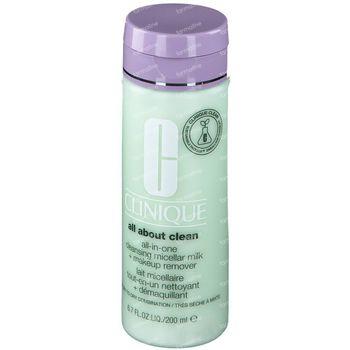 Clinique All About Clean Lait Micellaire Tout-en-Un Nettoyant + Démaquillant 1 & 2 200 ml