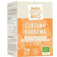 Nutri'Sentiels Bio Kurkuma 30  tabletten