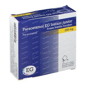 Paracetamol EG Instant Junior Vanille/Aardbei 20 zakjes
