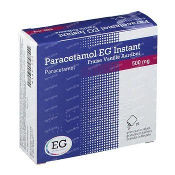 Paracetamol EG Instant Vanille/Aardbei 20 zakjes
