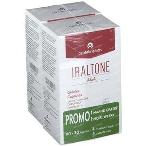 Iraltone AGA Chute Cheveux DUO 2x60 capsules