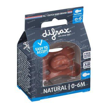 Difrax Fopspeen Brick Natural 0-6 Maanden 1 stuk