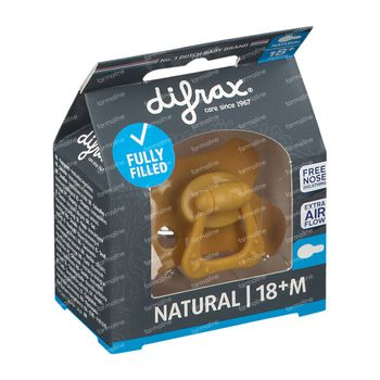 Difrax Fopspeen Honey Natural 18 Maanden+ 1 stuk