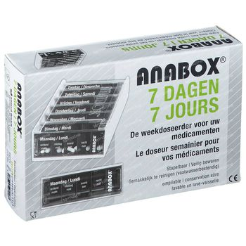 Anabox 7 Dagen Wit 1 stuk