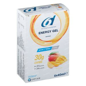6D Sports Nutrition Energy Gel Mango 6x40 ml