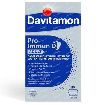 Davitamon Pro-Immun D Immuniteit Volwassenen - Microbiotica, Vitamine D, Vitamine C 30 capsules