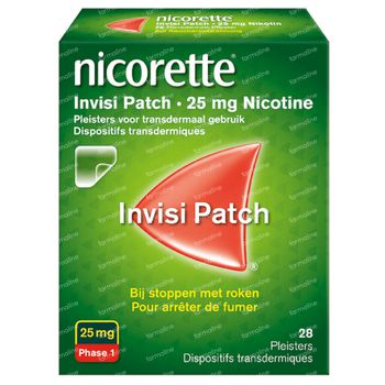 Nicorette® Invisi Patch 25mg - bij Stoppen met Roken 28 stuks