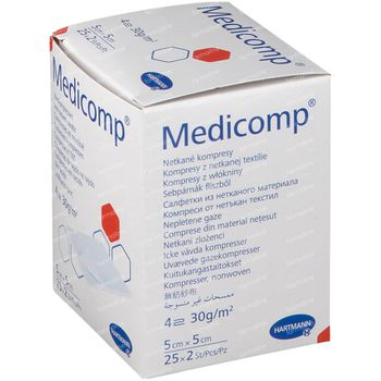 Hartmann Medicomp 4L 5x5cm 25x2 stuks