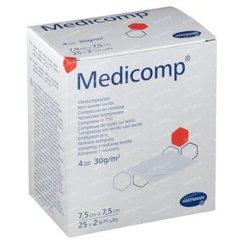 Hartmann Medicomp Kompress 4L 7.5x7.5cm 25x2 stuks