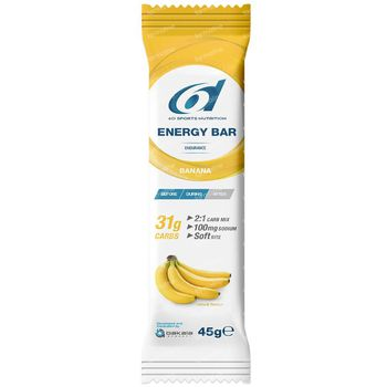 6D Sports Nutrition Energy Bar Banaan 6x45 g