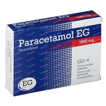 Paracetamol EG 1g 10 comprimés
