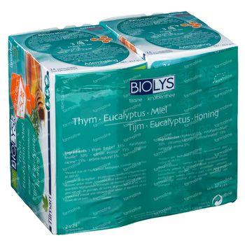Biolys Thee Ademhaling Tijm - Eucalyptus - Honing Bio DUO 2x24 zakjes