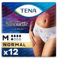 TENA Silhouette Normal Low Waist Blanc Medium 12 pièces