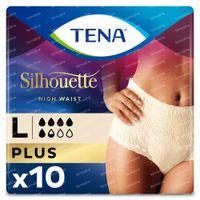 TENA Silhouette Plus Taille Haute Crème Large 10 pièces