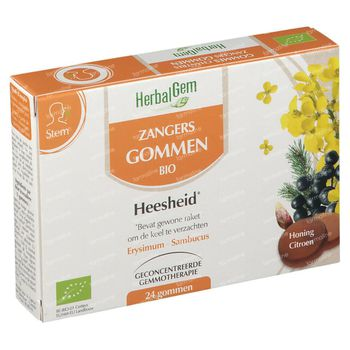HerbalGem Zangers Gommen 24 kauwgummies