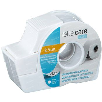 Febelcare Pore Pleister 25mmx9.14m 1 stuk