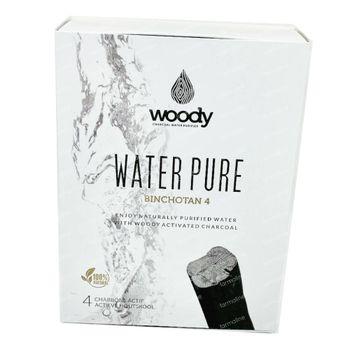 Woody Water Pure Binchotan 4 stuks