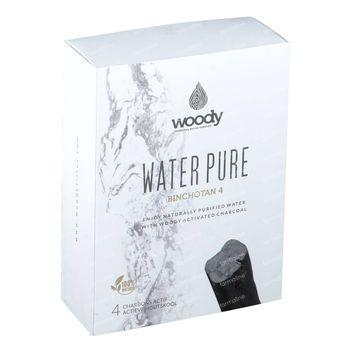 Woody Water Pure Binchotan Charbon Actif 4 pièces
