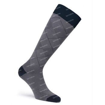 JOBST® Casual Pattern Chausettes 15-20 AD Large Gris 1 paire