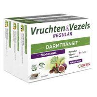 Ortis Vruchten & Vezels Regular Blokjes TRIO 3x15 stuks