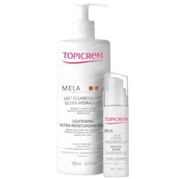Topicrem Mela Ultra-Hydraterende Verlichtende Melk + Mela Serumbooster 500+30 ml