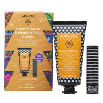 Apivita Happy Hands & Merry Kisses Honey Gift Set 1 set
