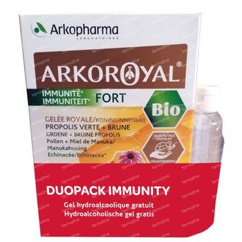Arkoroyal Immunité Forte Bio DUO + Gel à Mains GRATUITEMENT 40x10 ml