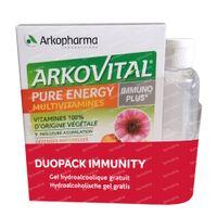 Arkovital Pure Energy Immunoplus DUO + Handgel GRATIS 2x30  tabletten