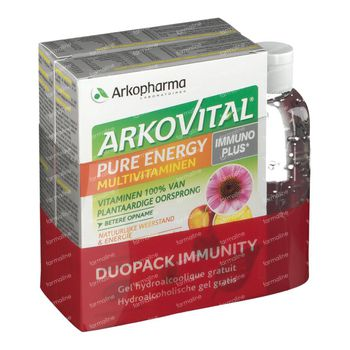 Arkovital Pure Energy Immunoplus DUO + Gel Mains GRATUITEMENT 2x30 comprimés