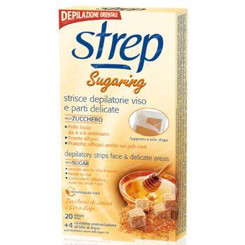 STREP Ontharingsstrips Gezicht Suiker 20 stuks