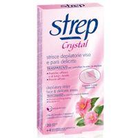 STREP Bandes Dépilatoires Visage Crystal 20 pièces