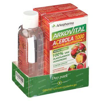 Arkovital Acerola DUO + Gel Mains GRATUITEMENT 2x30 comprimés