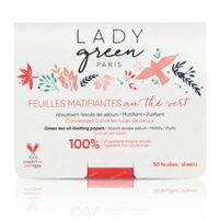Lady Green Mattifiërende Blaadjes Green Tea 50 stuks