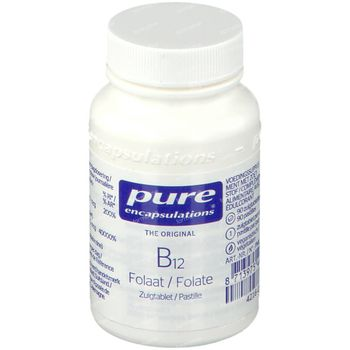 Pure Encapsulations B12 Folaat 90 zuigtabletten