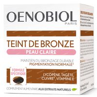 Oenobiol Teinte de Bronze Peau Clair - Autobronzant, Bronzage Sans Soleil 30  capsules