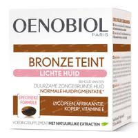 Oenobiol Bronze Teint Lichte Huid - Zelfbruiner, Bruinen Zonder Zon 30  capsules
