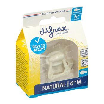 Difrax Fopspeen Snow Natural 6 Maanden+ 1 stuk