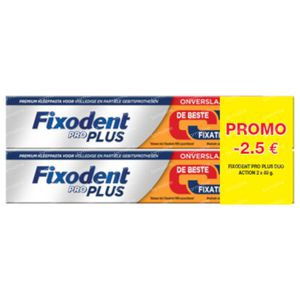 Fixodent Pro Plus Duo Action Kleefpasta DUO 2x60 g