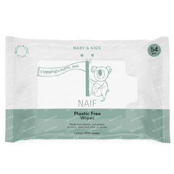 Naïf Baby & Kids Plastic Free Wipes 54 pièces